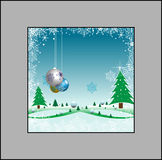 Winter frame Stock Image