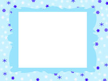 Winter frame Stock Photography
