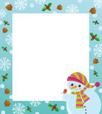 Winter frame Royalty Free Stock Photography