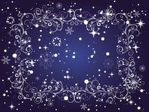 Winter frame vector illustration