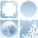 Winter frame Stock Photos