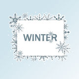 Winter frame background Stock Photography