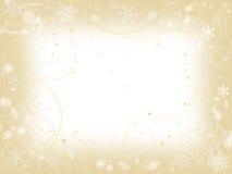 Winter frame in beige Stock Photos