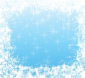 Winter frame blue Stock Images