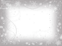 Winter frame in grey vector illustration
