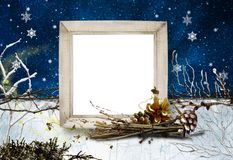 Winter Frame No3 Royalty Free Stock Photos