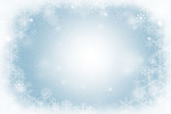Free Winter Frame Of Snowflakes Stock Photo - 80144890