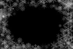 Free Winter Frame Of Snowflakes Stock Images - 80145194