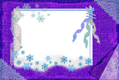 Winter frame for a photo. Winter frame for a photo for the best memoirs Royalty Free Stock Photography
