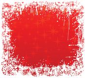 Winter frame red Royalty Free Stock Photo
