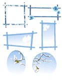 Winter frame set Stock Photo