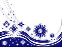 Winter frame with snowflakes Stock Photo