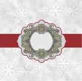 Winter frame with snowflakes Stock Photos