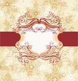 Winter frame with snowflakes Royalty Free Stock Photography