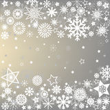 Winter frame with snowflakes Royalty Free Stock Photo