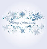 Winter frame with snowflakes Stock Image