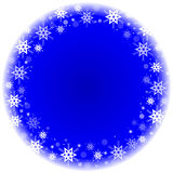 Winter frame with snowflakes Stock Images