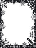 Winter frame with snowflakes Stock Photos
