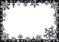 Winter frame with snowflakes. Winter frame Stock Images