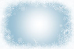 Winter frame of snowflakes Stock Photography
