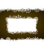 Winter Frame with Snowflakes, Holiday Background Stock Images