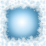 Winter frame with snowflakes Royalty Free Stock Photos