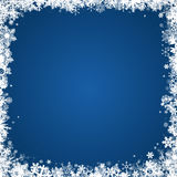 Winter frame withsnowflakes. Winter frame with white snowflakes Stock Image