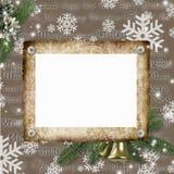 Winter Framework for photo Stock Image