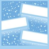 Winter frameworks Royalty Free Stock Image