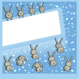 Winter frameworks (hares) Stock Photos