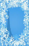 Winter France background vector. Ornate leaves, flowers and snowflakes Stock Photos