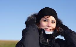 Winter-Frau Stockfotografie