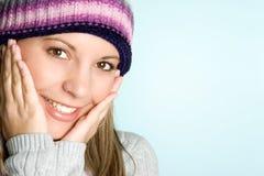 Winter-Frau Stockfotos