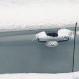 Winter freezing car, frozen handle door vehicle Stock Images