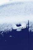 Winter freezing car, frozen vehicle window Royalty Free Stock Photo