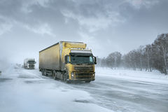 Winter freight Stock Photo