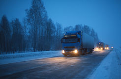 Winter freight Stock Photos