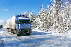Winter freight royalty free stock photography
