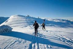 Winter in French alps Stock Images