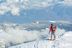 Winter in French alps Stock Photo