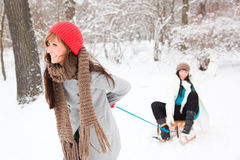 Winter friends Stock Photos