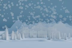 Winter frohe Feiertage vektor abbildung