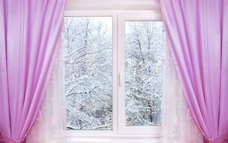 Winter From Window Royalty Free Stock Image