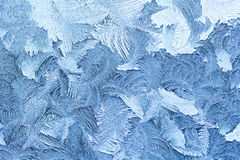 Winter frost pattern background Stock Image