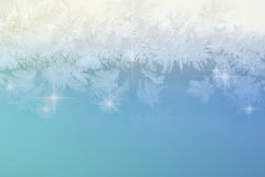 Winter frost pattern background Royalty Free Stock Photography