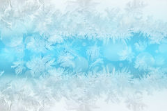 Winter frost pattern background Stock Images