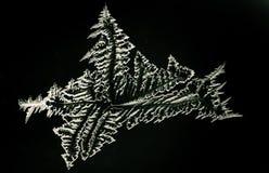 Winter Frost Pattern on Window Royalty Free Stock Photo