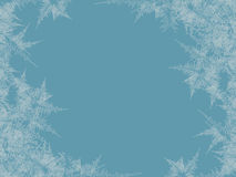 Winter frosted window background. Freeze and wind at the glass. Vector illustration vector illustration