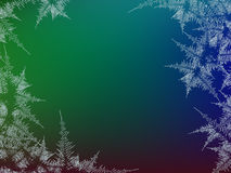 Winter frosted window colorful background. Freeze and wind at the glass. Vector illustration. Design texture. Winter frosted window colorful background. Freeze royalty free illustration
