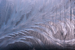 Winter frostwork on window glass Stock Photography